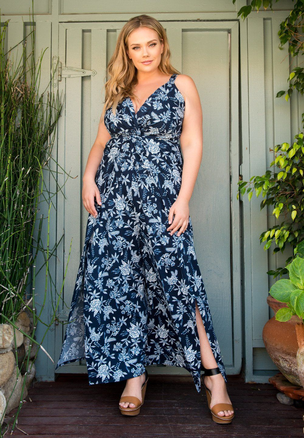 f8bc9055ec7 Slip into this sleeveless plus size jumpsuit
