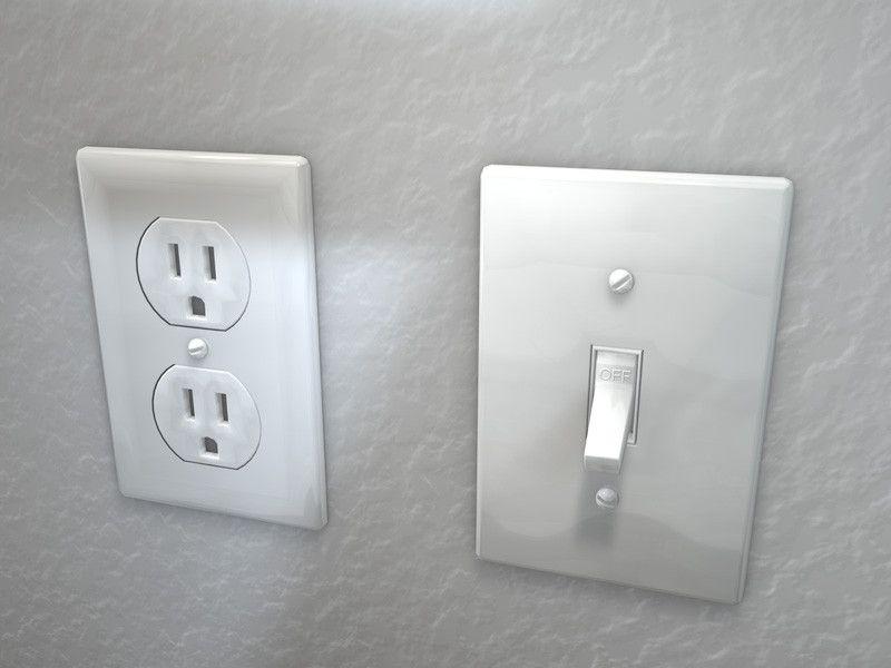 Electrical Outlet Light Switch 3D Model - 3D Model | 3D-Modeling ...