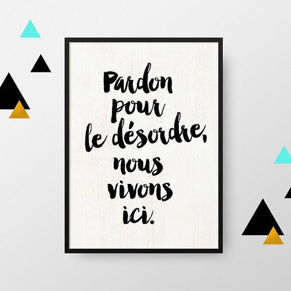 Affiche A4 Pardon Pour Le Désordre Vendue Sans Cadre