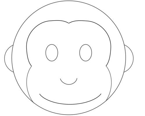 Monkey cake design pattern template monkey stuff for Monkey face template for cake