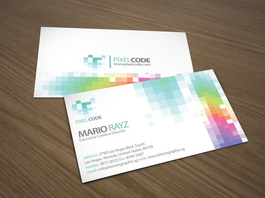 Pixel code business card by ~Lemongraphic on deviantART http://www ...