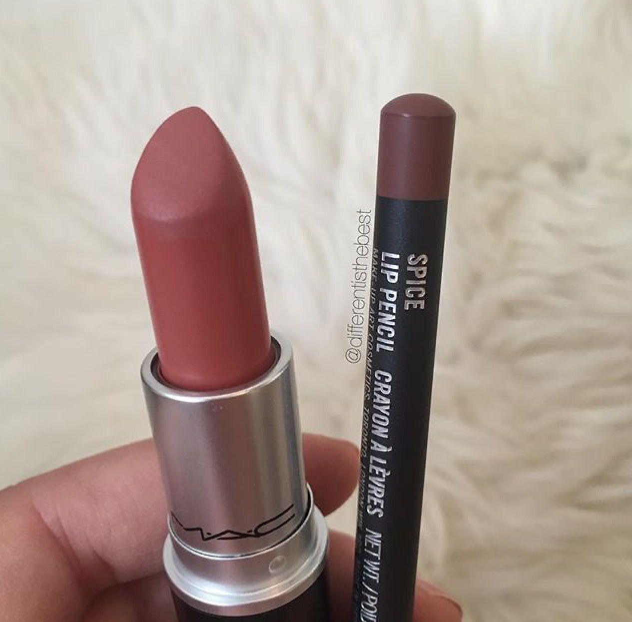 mac velvet teddy amp spice lip pencil mac lipsticks