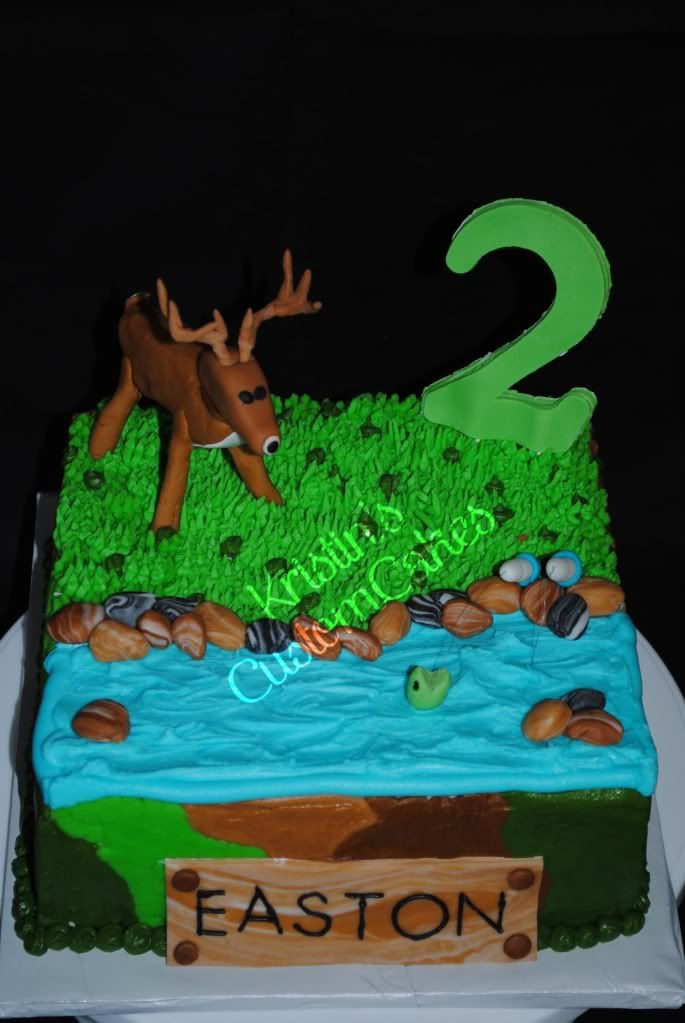 deer hunting cakes Kristins Custom Cakes Hunting Fishing Kids