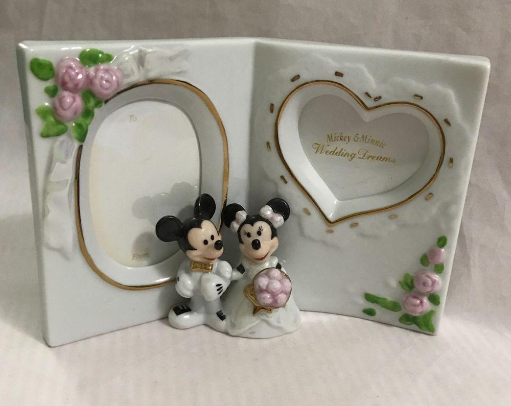 Disney Mickey Minnie Wedding Dreams Porcelain Frame Kato Kogei Traumhochzeit