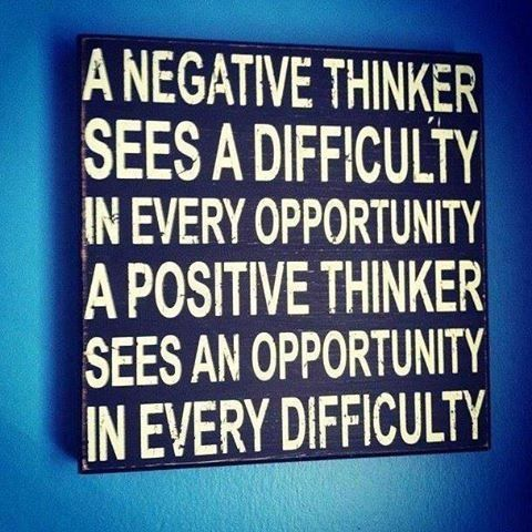 Negative and Positive Thinkers