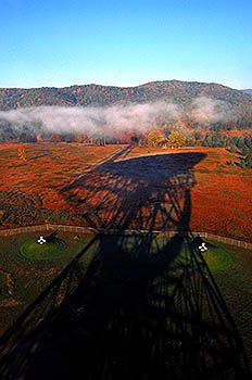 Usa West Virginia Green Bank National Radio Astronomy Observatory The Telescope Or Gbt Casts A Long Shadow In Early Morning Light C