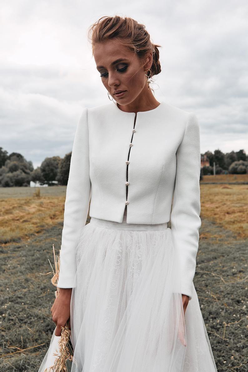 Bridal Coat Wedding Cashmere Jacket Ecru Jacket For Bride Etsy In 2020 Bridal Coat Bridal Bolero Winter Wedding Coat