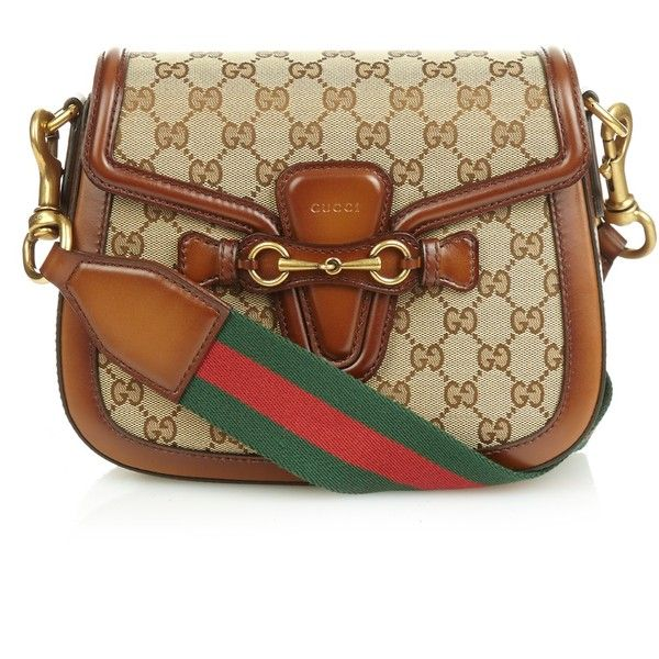 9854095d0dc Gucci Lady Web medium canvas and leather shoulder bag ( 1