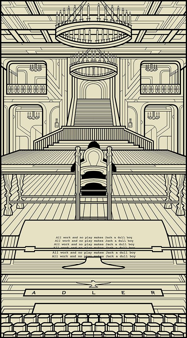 Stunning geometric illustrations pay tribute to classic movies