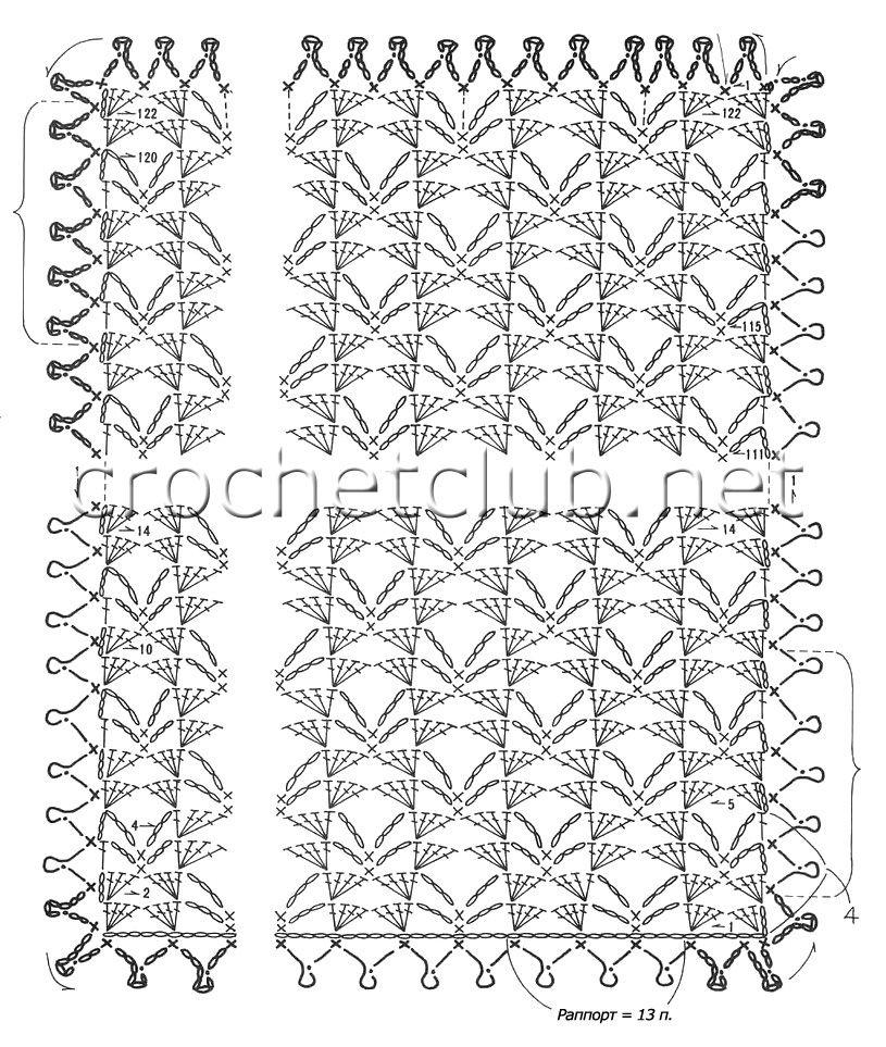 палантин сиреневого цвета вязание крючком блог настика схемы