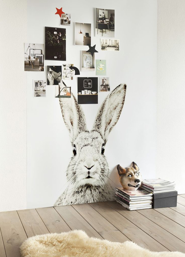 Bunny on the wall