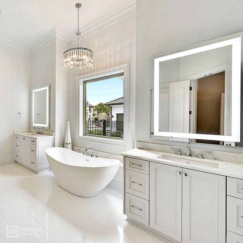 Front Lighted Led Bathroom Vanity Mirror 36 Wide X 48 Tall