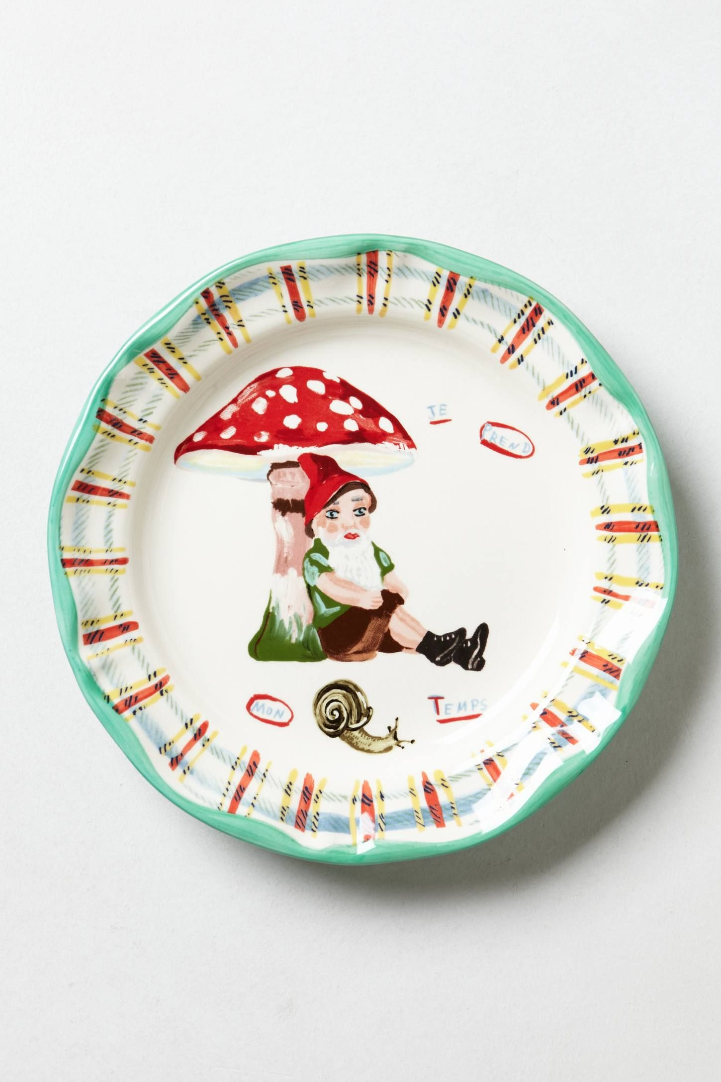 Gnome Plate anthropologie Gnomes and Faires