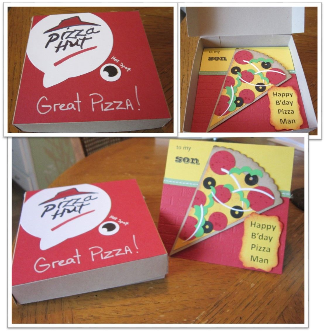 My sons birthday was today He is a manager at Pizza Hut This – Birthday Card for Manager