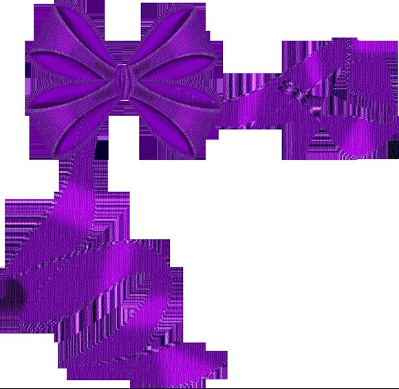 purple ribbon bow clip art borders amp corners pinterest
