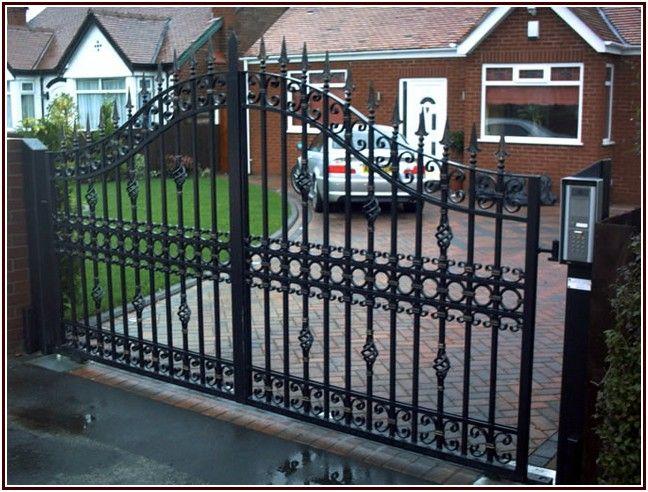 Shining Wrought Iron Courtyard Gates Iron Gates Wrought Iron