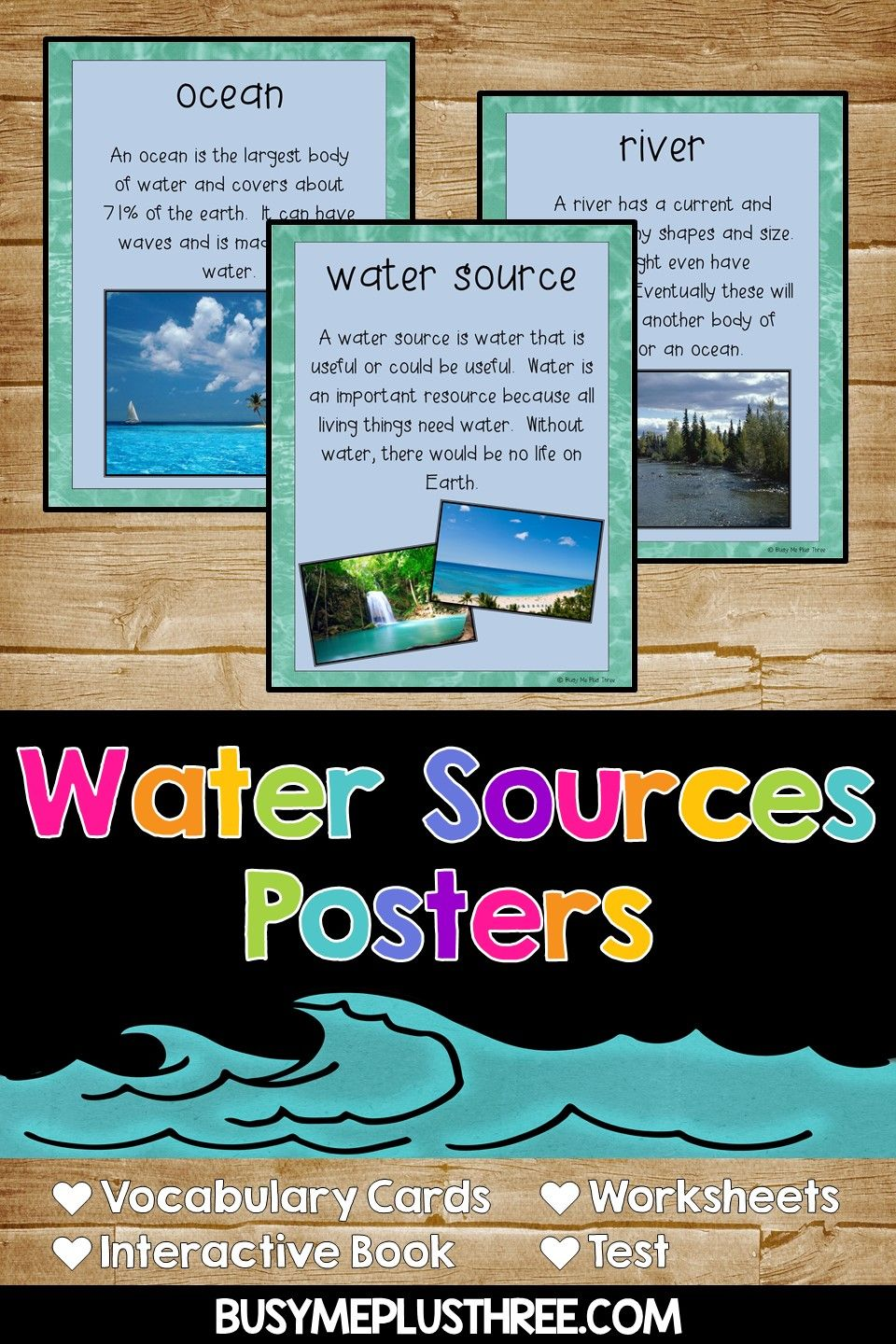 Water Sources Water Sources Worksheets For Kids All About Water [ 1440 x 960 Pixel ]