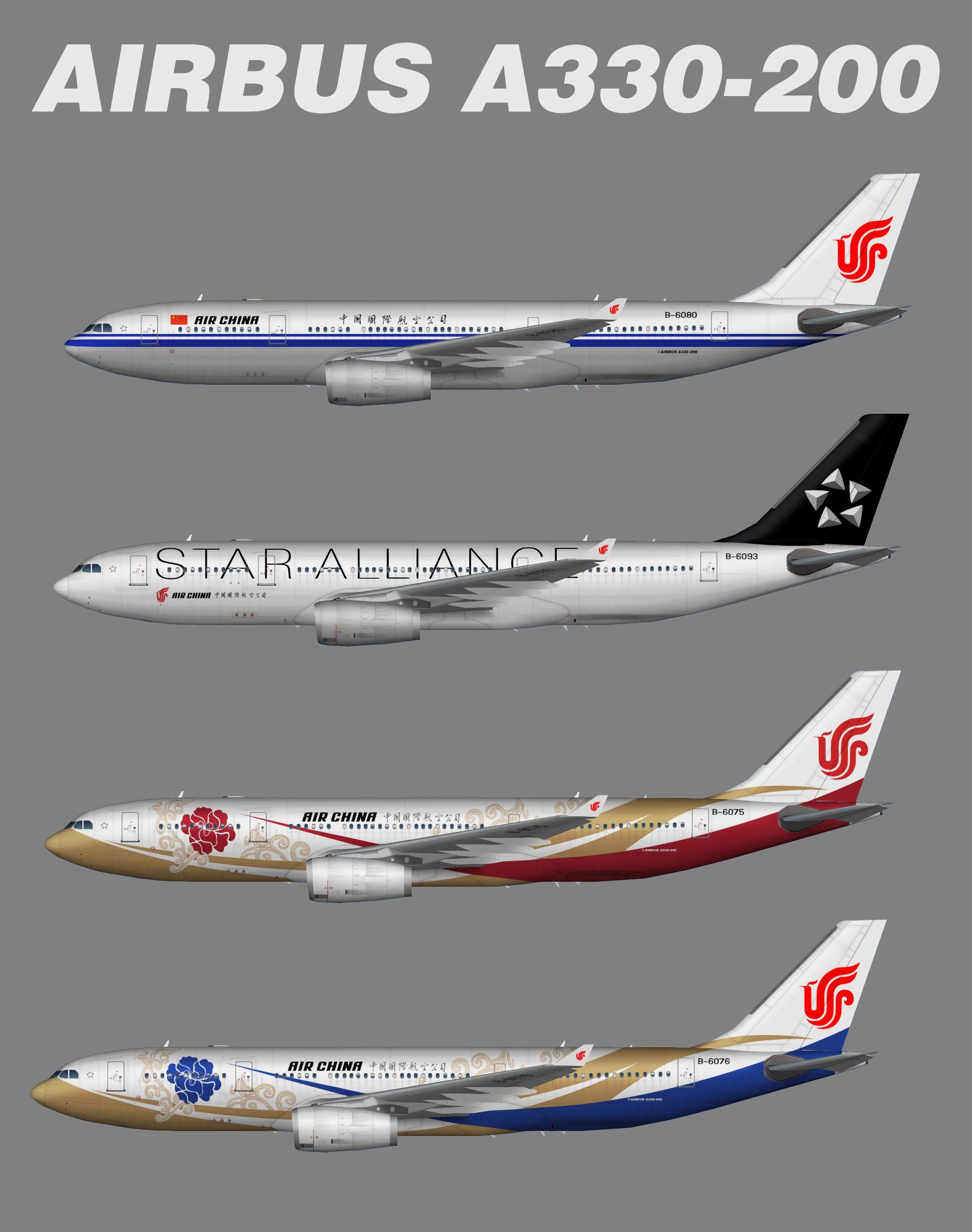 Air China Airbus A330200 (representative Fleet)