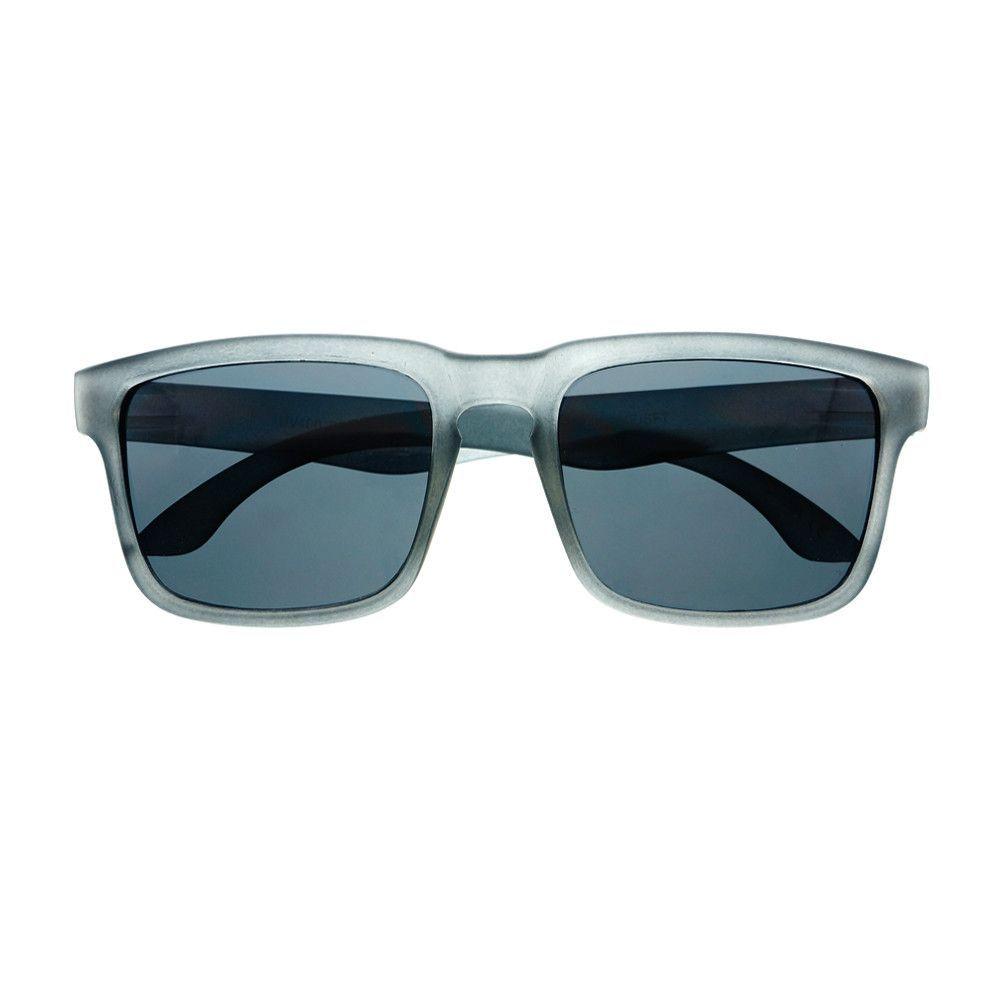 Rubberized Keyhole Retro Style Square Matte Wayfarer Sunglasses W1560