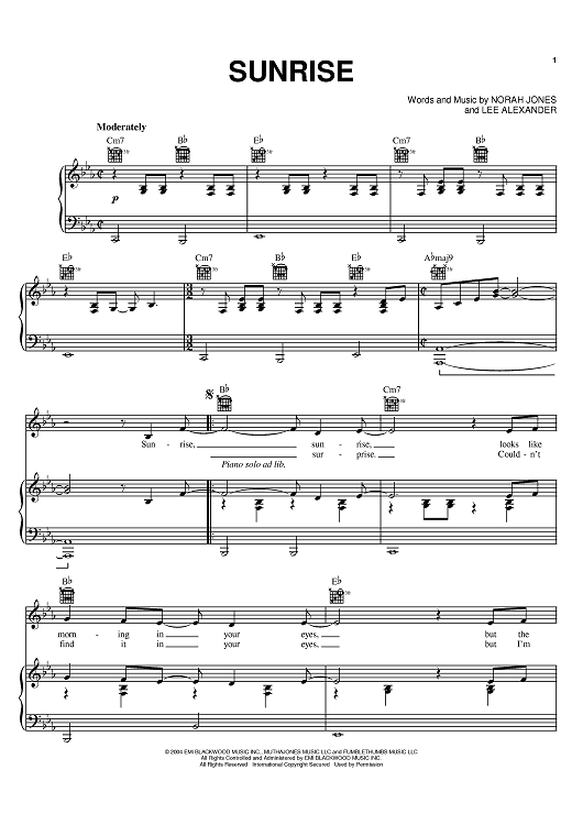by Norah Jones   Norah jones, Sheet music and Pianos
