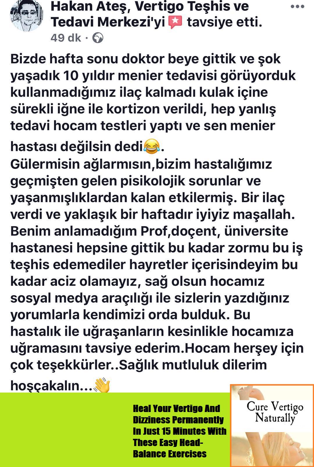 Prof.Dr.Mehmet Yavuz Sutbeyaz Vertigo Teshis ve Tedavi Merkezi 0216 350  1122 www.myavuzsutbeyaz.com #meniere #vertigoilacl… | Vertigo, Just deal  with it, Overcoming