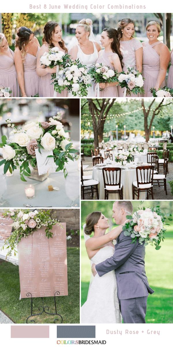 Best 8 June Wedding Color Combinations For 2019 June Wedding Colors Wedding Color Combinations Dusty Rose Bridesmaid Dresses