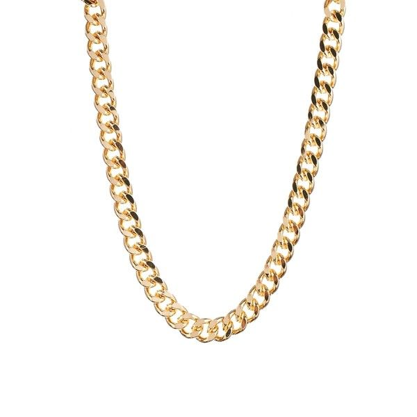 Weekday Gold Game Chain Necklace Chunky Gold Necklaces Chunky Gold Jewelry Gold Chain Jewelry