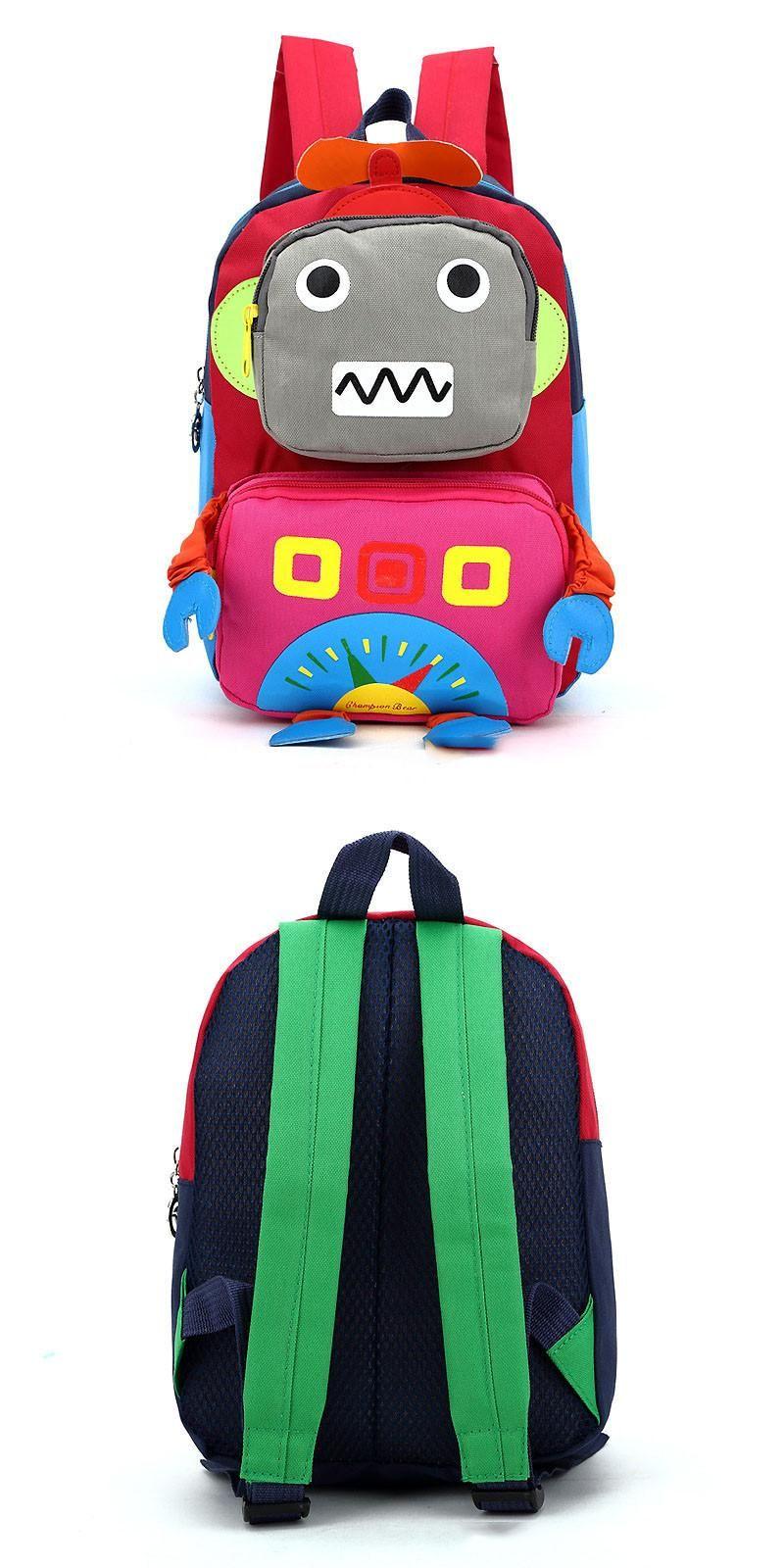 Toddler Backpack Robot Kindergarten Preschool Bag 3D Cute Cartoon Kids Schoolbag for Boys and Girls