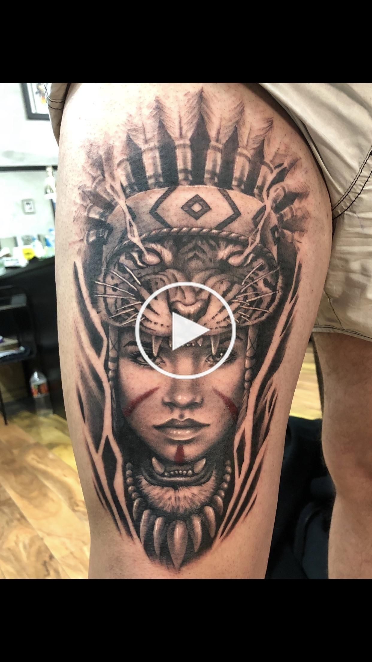 Iain Mclellan, Reverence tattoo, Melbourne Australia. Native American