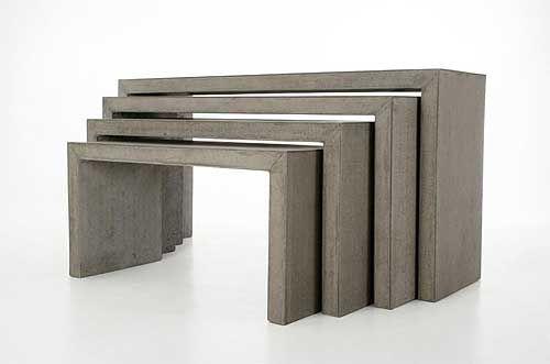 lkonsolex: 4 konsolen aus beton   minimal design - möbel mit, Gartenarbeit ideen