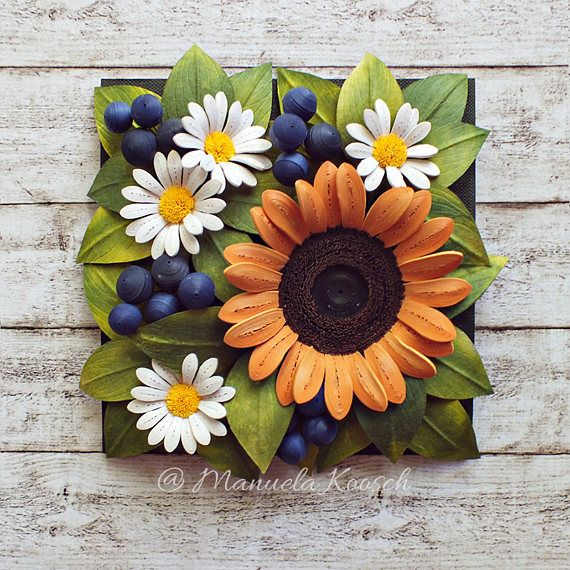 Sunflower White Daisies Wall Art Flowers Nursery Decor