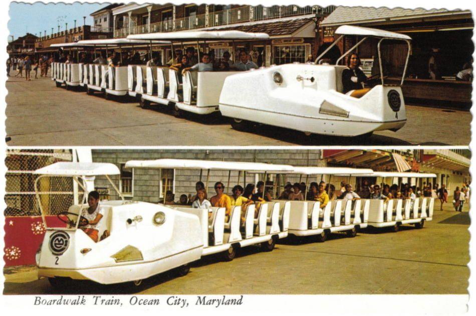 Third Generation Boardwalk Train The Bullet Train Ocean City