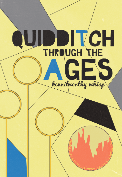 MADE-UP COVER ART: HOGWARTS TEXTBOOKS (Quidditch Through the Ages)