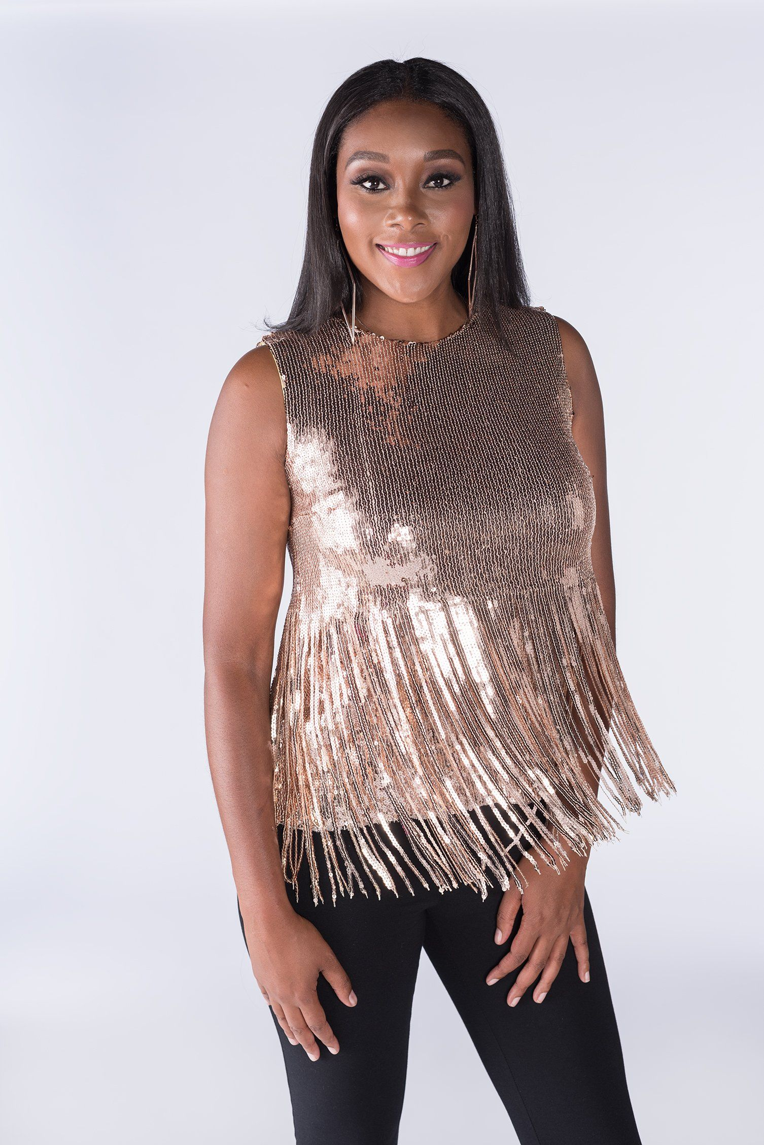 8295d5f6 Yonkers Sequin Top (Glitzy Gold) | Products | Tops, Sequin top, Sequins
