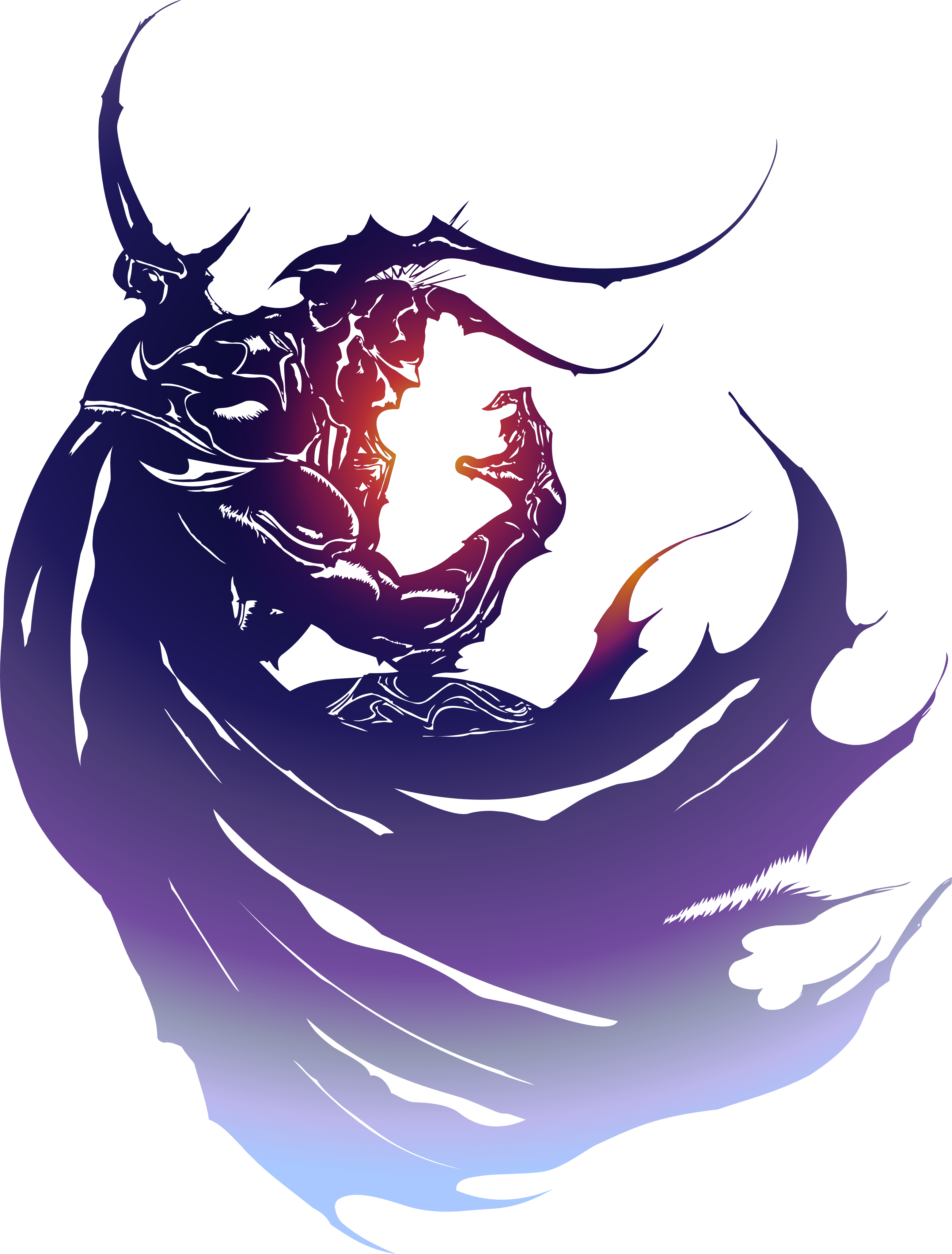 This is the logo for Final Fantasy IV it stands out