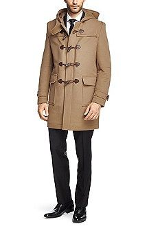 47fbbf4aad8 Solid-coloured duffle coat  Devon  in camelhair blend
