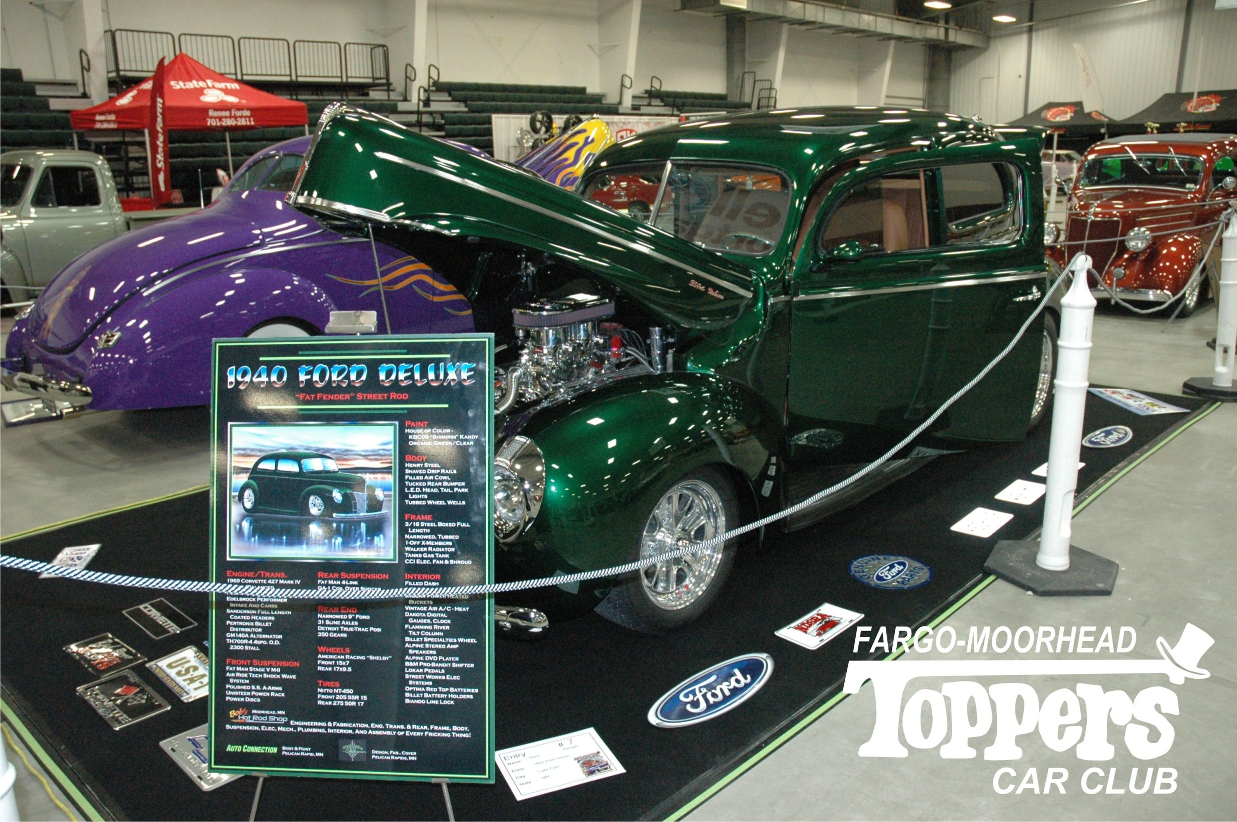 1940 Ford Deluxe - Kelly Green Toppers Car Club - Annual Car Show ...