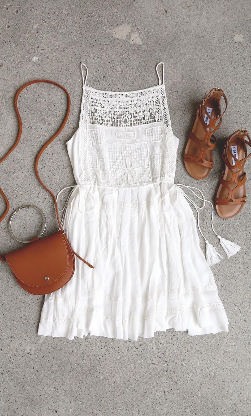Idyllic White Lace Dress Chic Summer Outfits Fashion Outfits For Teens