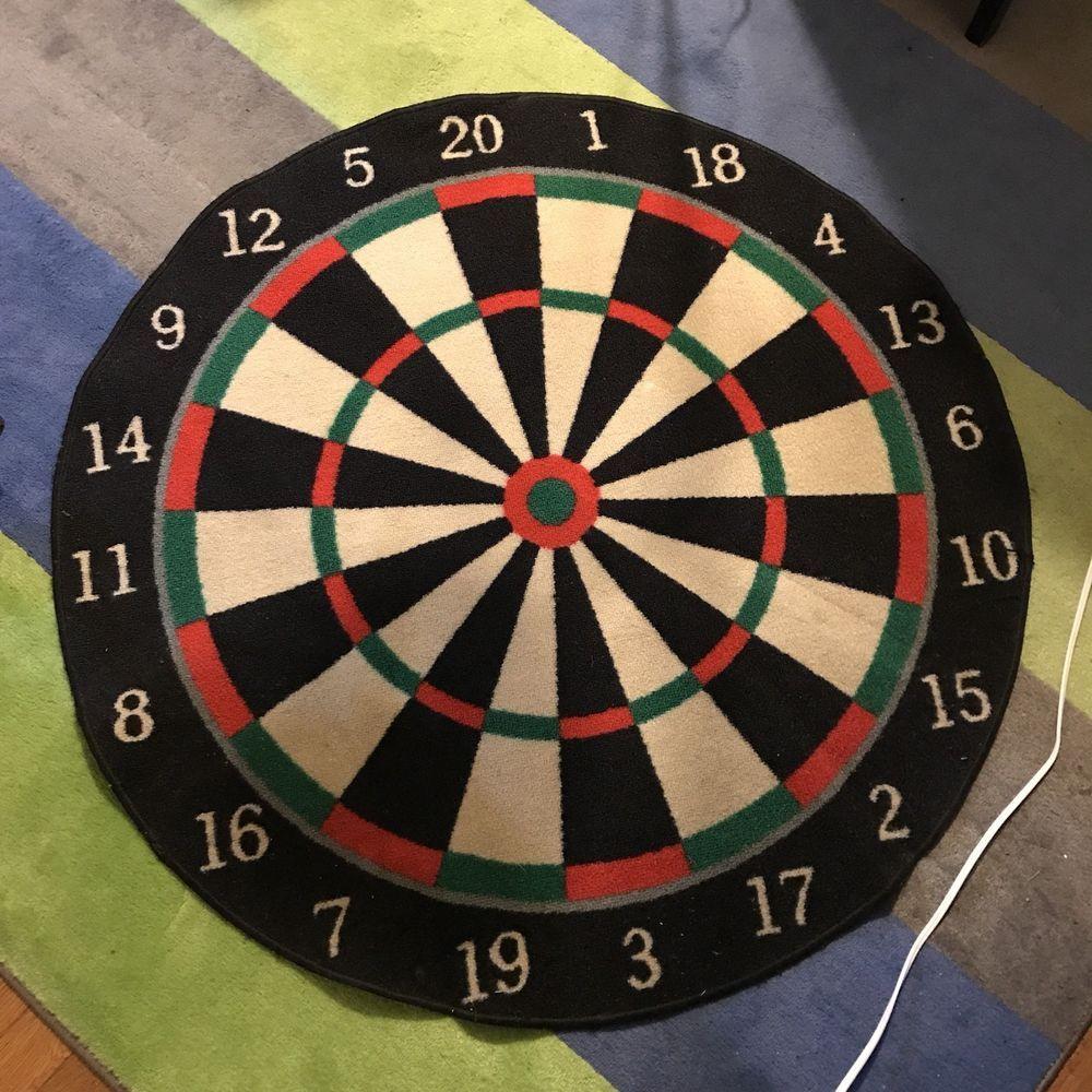 "Dartboard Rug 40"" Carpet Antislip Floor Mat Sports Game"