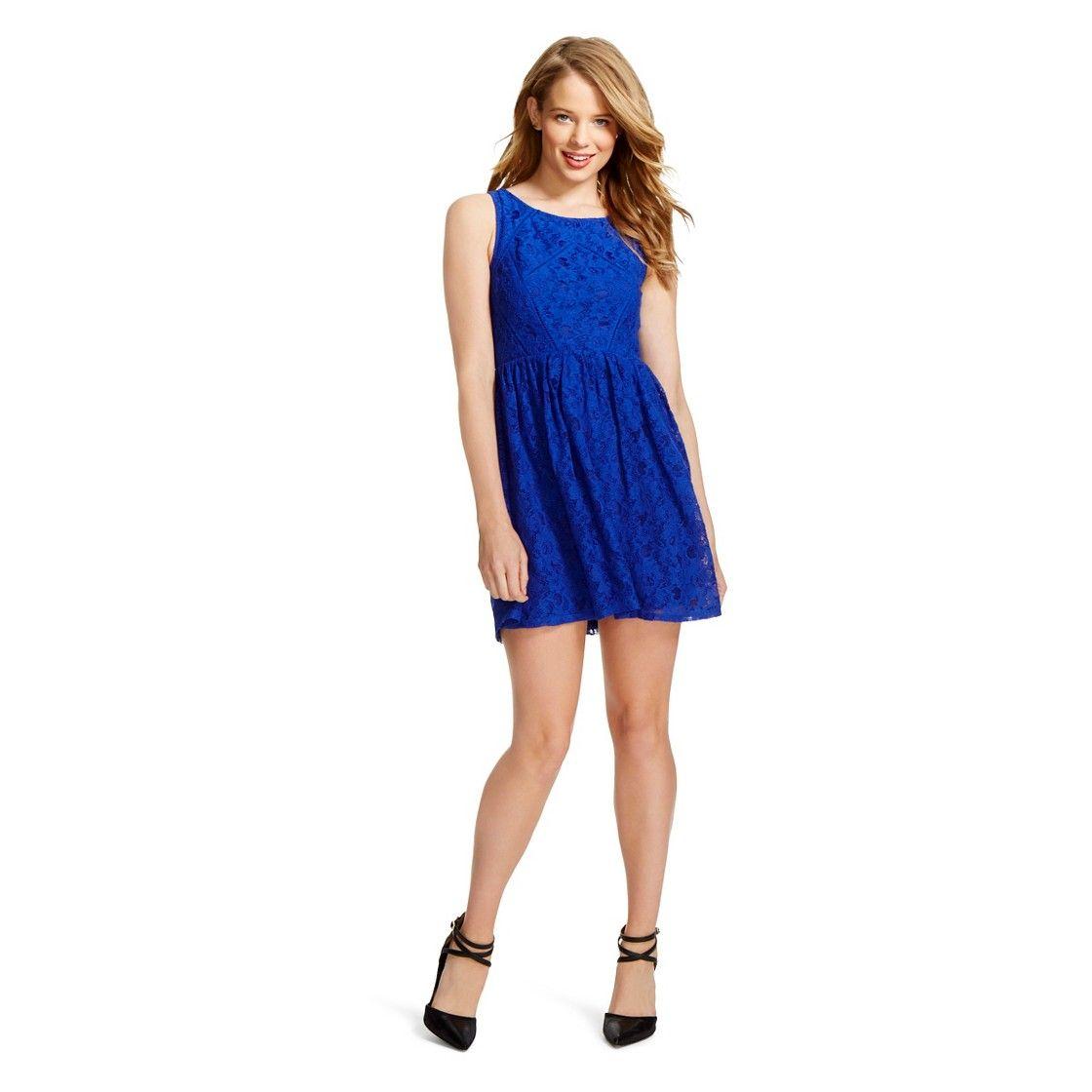 Royal blue lace dress styles  Lattice Lace Dress Royal Blue  Xhilaration   Dresses I like