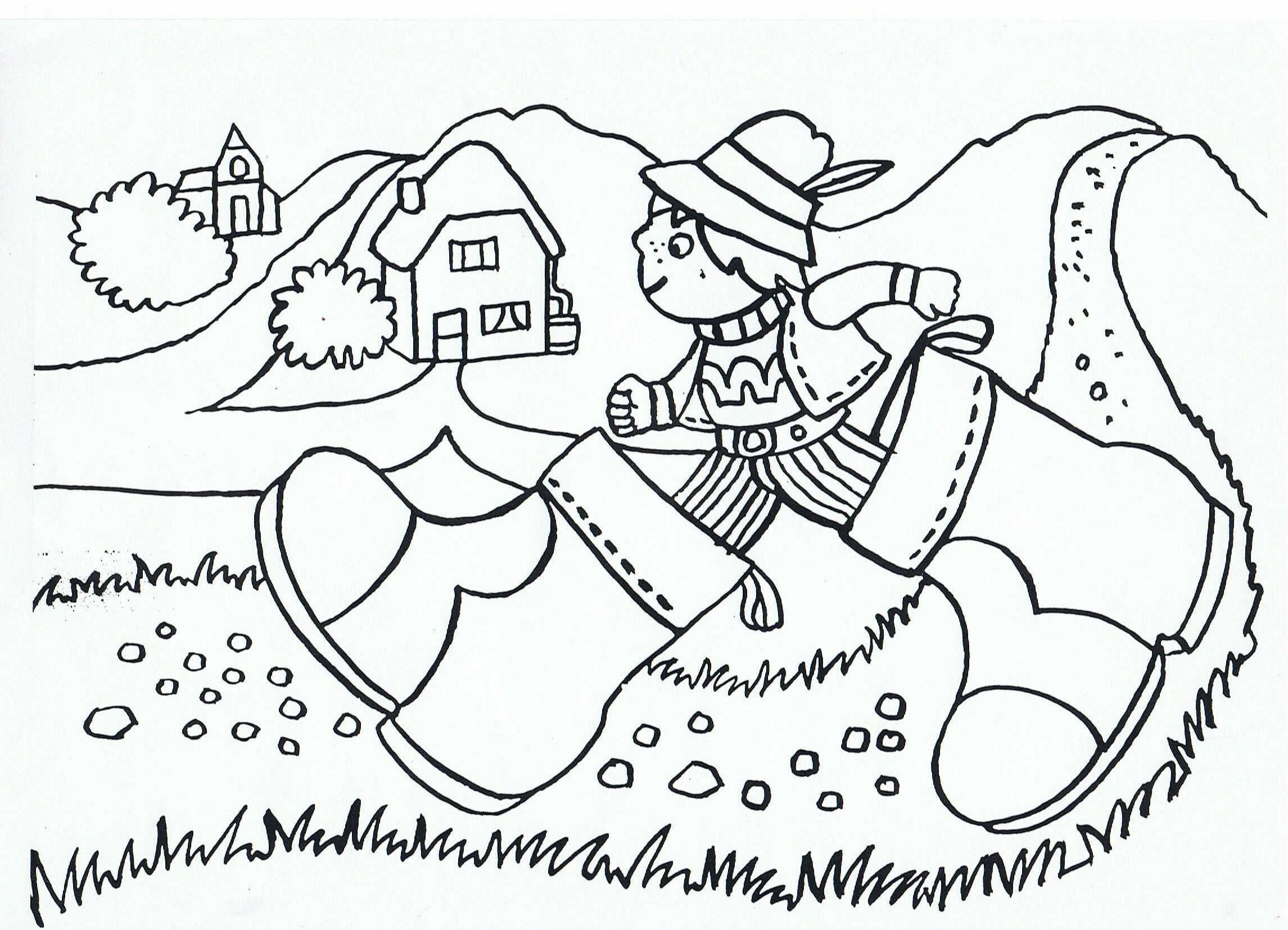 Cartoon Riding Coloring Page