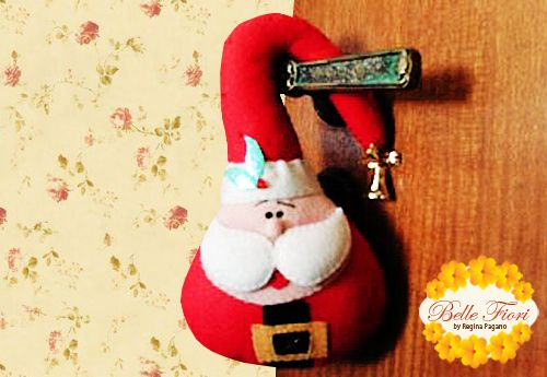 enfeite de natal para a porta.