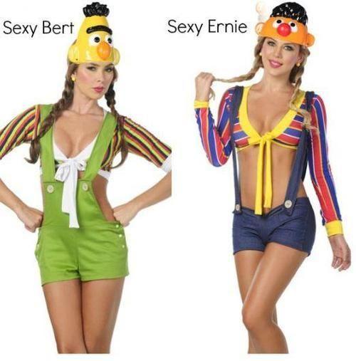 Sexy Bert and Ernie. Stupid Halloween costumes. | Cheese | Pinterest
