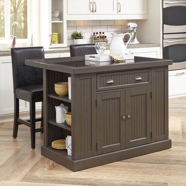 Home Styles Stockbridge Kitchen Island and Two Stools For the Home