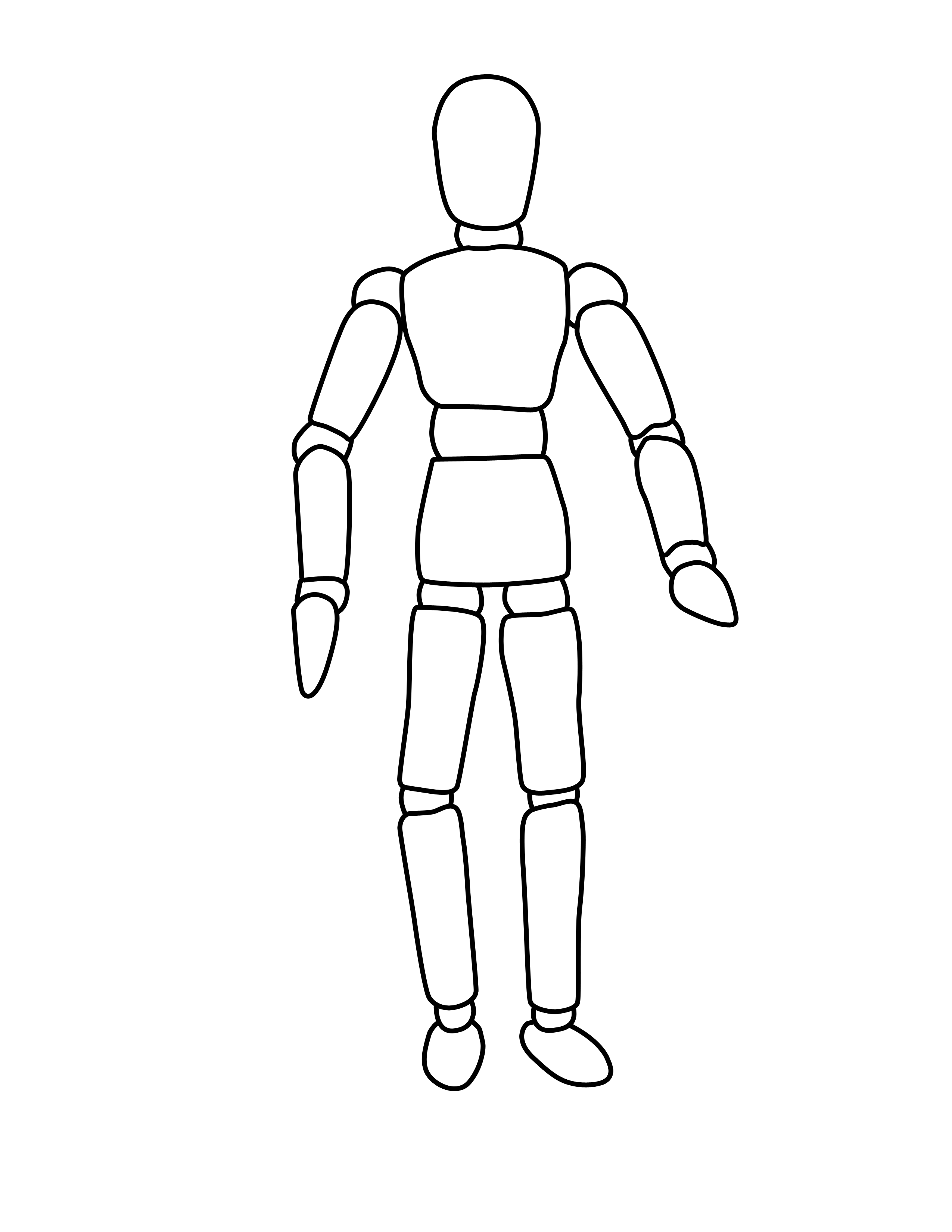 body outlines coloring page - Google Search | virtues within ...