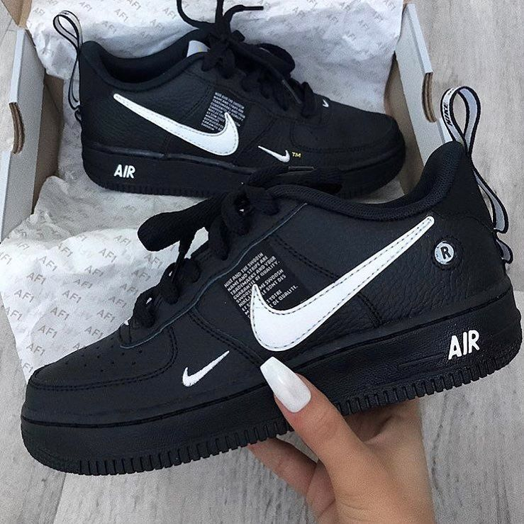 """the latest 21fca 8cd8f DressCodeNation on Instagram """"🖤🖤🖤 DressCodeNation"""" Nike Shoes Air Force ,"""