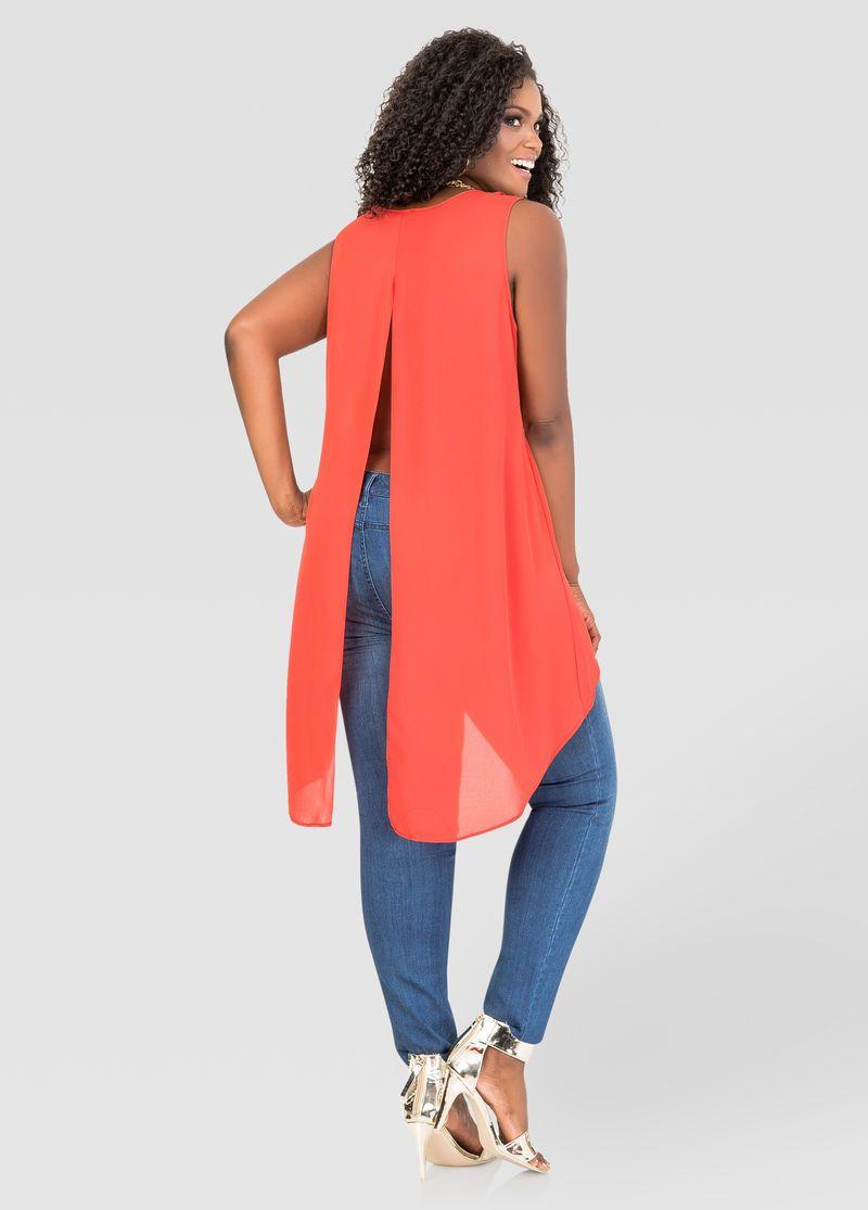09232c27ee0807 Split Back Hi-Lo Blouse in 2019 | Ashley Stewart | Fashion, Fashion ...