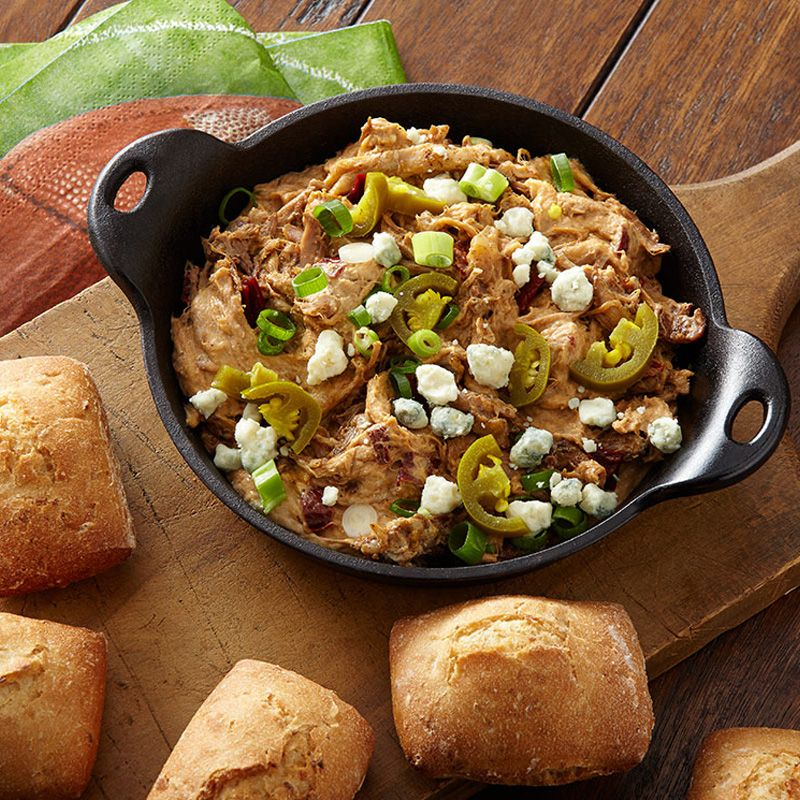 Chipotle Pulled Pork Blue Cheese Dip Any Foodies Cooking