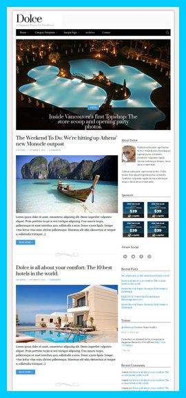 CSSIgniter - Dolce WordPress Theme Review