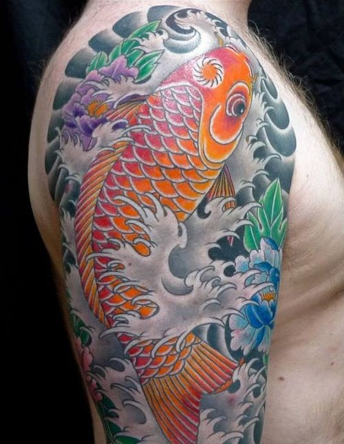 60 most beautiful koi fish tattoo designs of all time for Cool koi fish